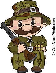 illustration of a comic hunter