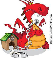 illustration of a dangerous dragon