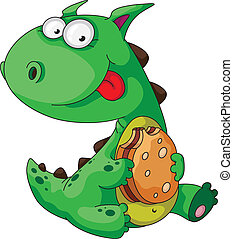 illustration of a dinosaur eating