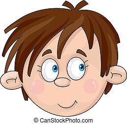 Illustration of a face of boy