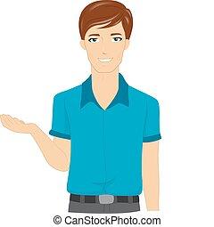 Illustration of a Male Teacher Explaining