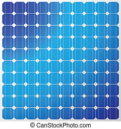 Illustration of a solar panel with a reflection of the sky. Vector.