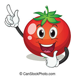 illustration of a tomato on a white background