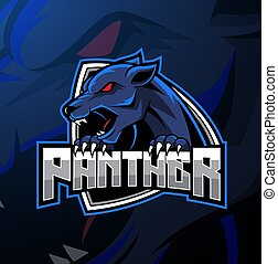 Angry panther mascot logo design