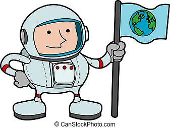 Illustration of astronaut