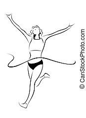 illustration of athlete sketch on white background