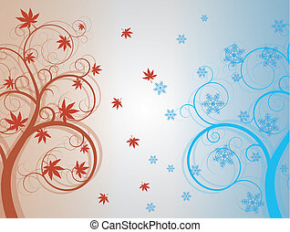 autumn and winter tree