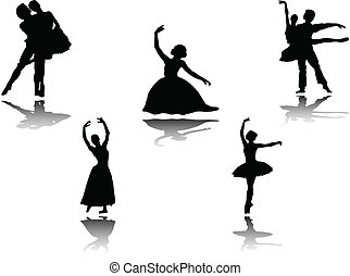 ballet collection with shadow