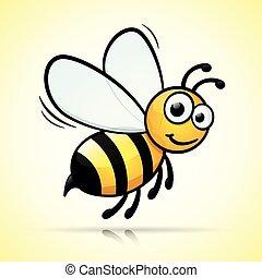 bee design on white background