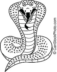 illustration of Black and white Cobra
