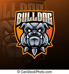 Bulldog Head esport Mascot Logo