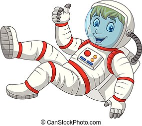 Cartoon Astronaut giving thumbs up