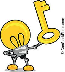 illustration of cartoon lamp