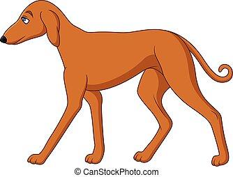 Illustration of Cartoon tall dog
