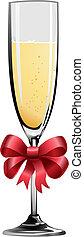 Illustration of champagne