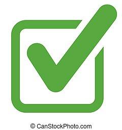 check mark green icon concept