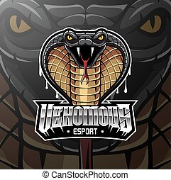 Cobra head esport mascot logo design