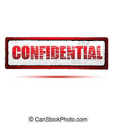 illustration of confidential stamp on white background