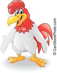 Cute rooster cartoon