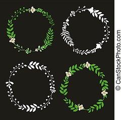 floral wreath set