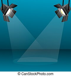 illustration of focus light on abstract background