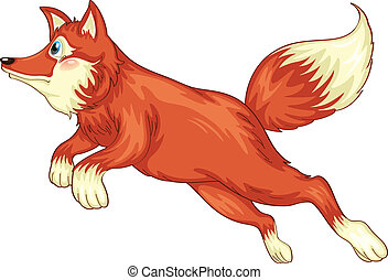 illustration of fox on a white background