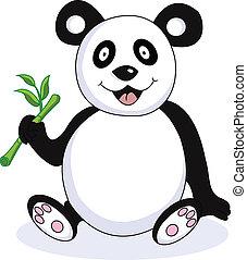funny panda cartoon