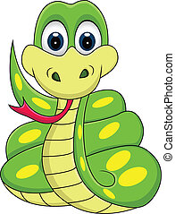 illustration of funny snake cartoon