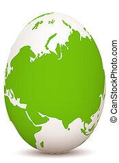 illustration of global egg on white background