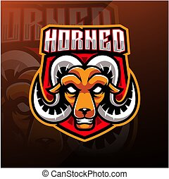 Goat head esport mascot logo