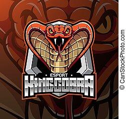 King Cobra head esport mascot logo design