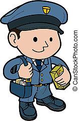 Illustration of mailman