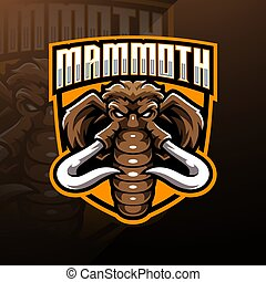 Mammoth head esport mascot logo design