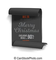 Marry Christmas Vector Scroll Banner Template