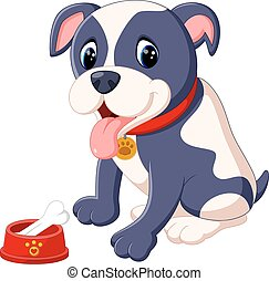 illustration of Pit Bull Dog