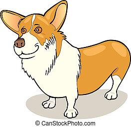 Illustration of purebred Pembroke Welsh Corgi dog