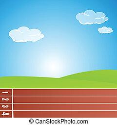 illustration of racing track