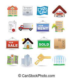 Illustration of real estate icon set