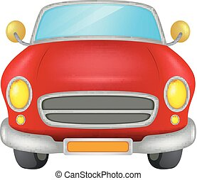 red car on a white background