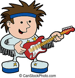 Illustration of rock and roll musician