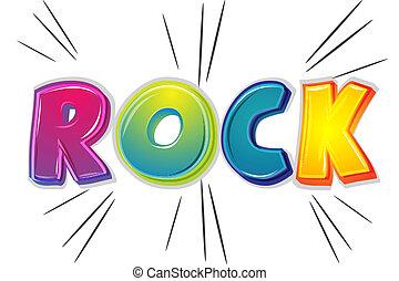 illustration of rock on white background