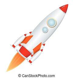 illustration of rocket launcher on isolated background