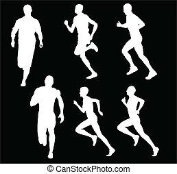 running man - vector