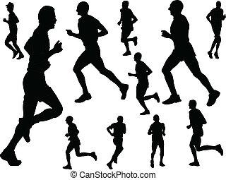 running people - vector