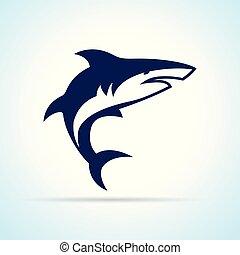 shark design on white background