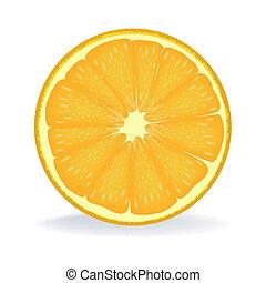 illustration of slice of orange on isolated background