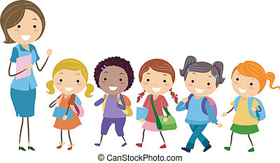 Illustration of Students from an Exclusive School for Girls