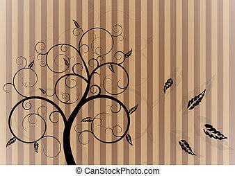 swirl tree in autumn