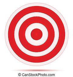 illustration of target board on white background