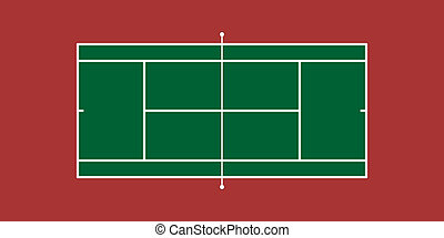 Illustration of Tennis Court (Hard Court)